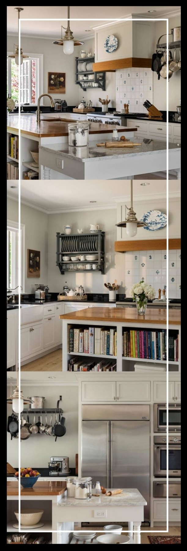 kitchen island ideas with boiok case on end